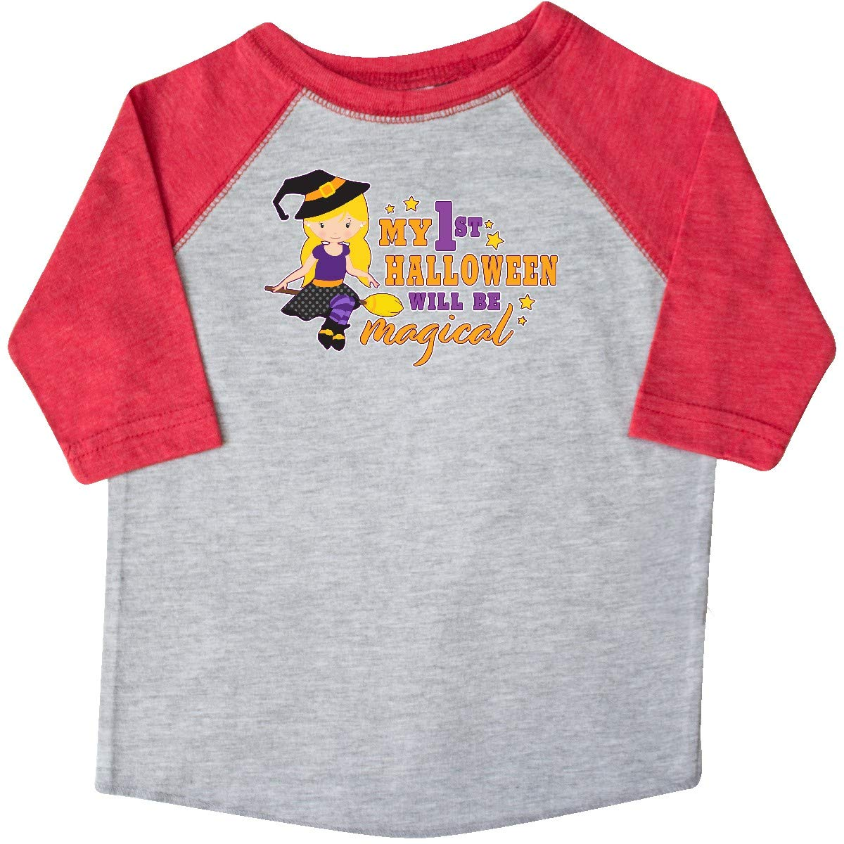 inktastic My 1st Halloween Will Be Magical with Blonde Witch on Toddler T-Shirt