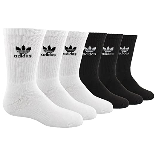 Amazon.com  adidas Originals Kid s - Boys Girls Trefoil Crew Socks  (6-Pair) 1ced30ea0