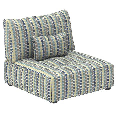 Marca Amazon - Alkove Elvas - Módulo uniplaza con almacenaje y cojín adicional para sofá modular, 93 x 100 cm, de lunares