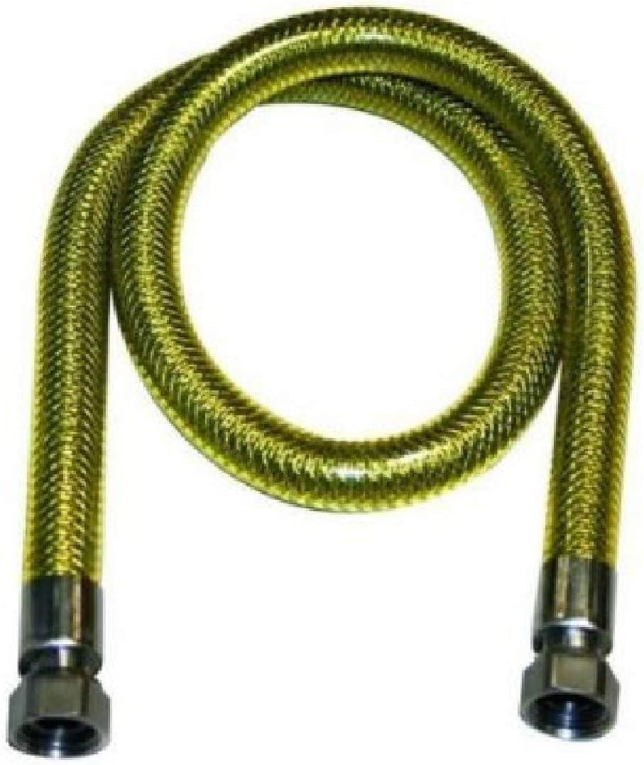 Tubo flexible acero inoxidable cordón Gas para GLP Y metano 1/2FF hembra hembra Cocina