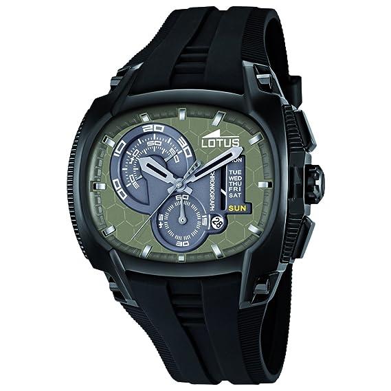 Lotus 15755/1 - Reloj analógico de cuarzo para hombre con correa de plástico, color negro: Amazon.es: Relojes