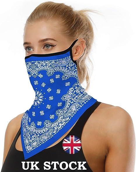 FORLADY Unisex Multifunzione Passamontagna Bandana Maschera con Passanti per Le Orecchie Traspirante Protezione Solare UV Sci Moto