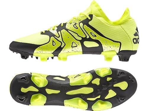 Adidas X15.1 Hombres FG AG Botas De Fútbol - Solar Amarillo Negro ... 07ab135a524f3