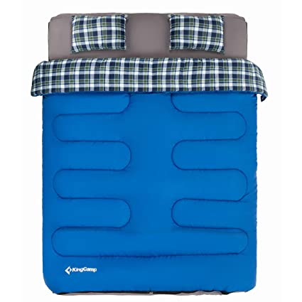 Amazon.com: KingCamp 25F/-4C Saco de dormir doble 3 en ...