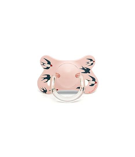Suavinex 303068 - Chupete anatómico látex, 4-18 meses, golondrinas, color rosa