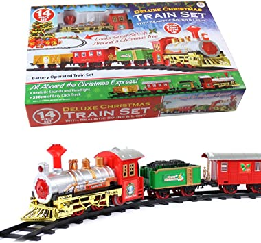 CHRISTMAS EXPRESS Holiday Festive Train Set Toys Track Light & Sound Xmas  Gift by Lizzy®