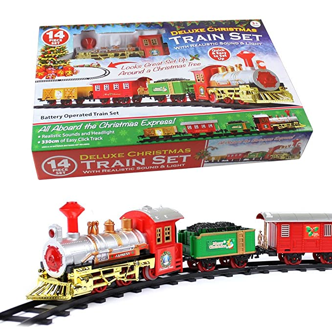 Christmas Train Set.Christmas Express Holiday Festive Train Set Toys Track Light Sound Xmas Gift By Lizzy