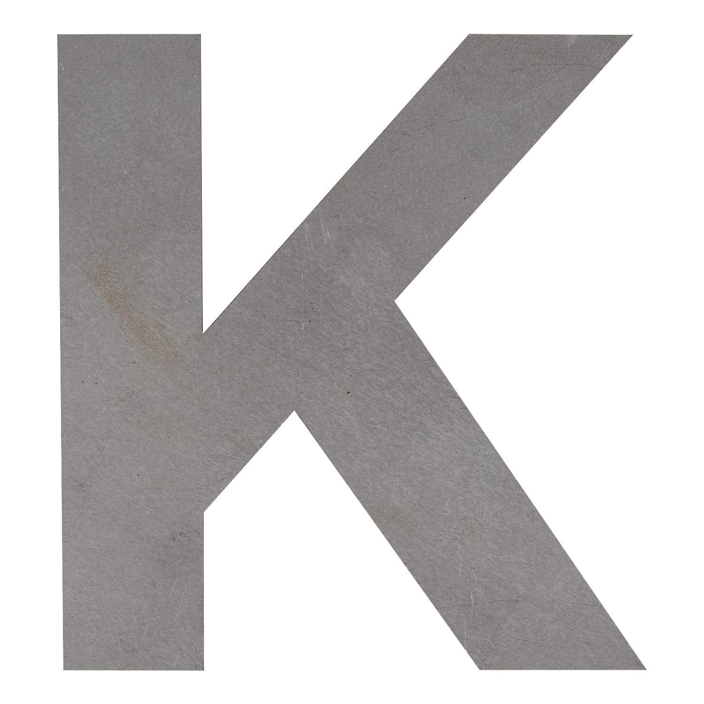 Big Metal Letters K 8 Tall x 7.5 Wide x 1//16 Thick