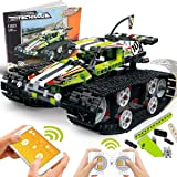POKONBOY Building Blocks RC Car for Boys STEM Toys, RC Tracked Racer Building Kit Educational STEM Learning Toys Science Kits for Kids Ages 6-14 Years Old