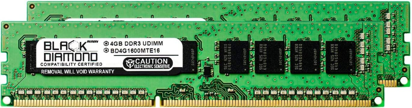 8GB 2X4GB RAM Memory for ASRock Motherboards G41MH//USB3 R2.0 DDR3 ECC UDIMM 240pin PC3-12800 1600MHz Black Diamond Memory Module Upgrade