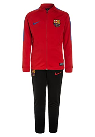Nike 2017-2018 Barcelona Squad Woven Tracksuit (Red)