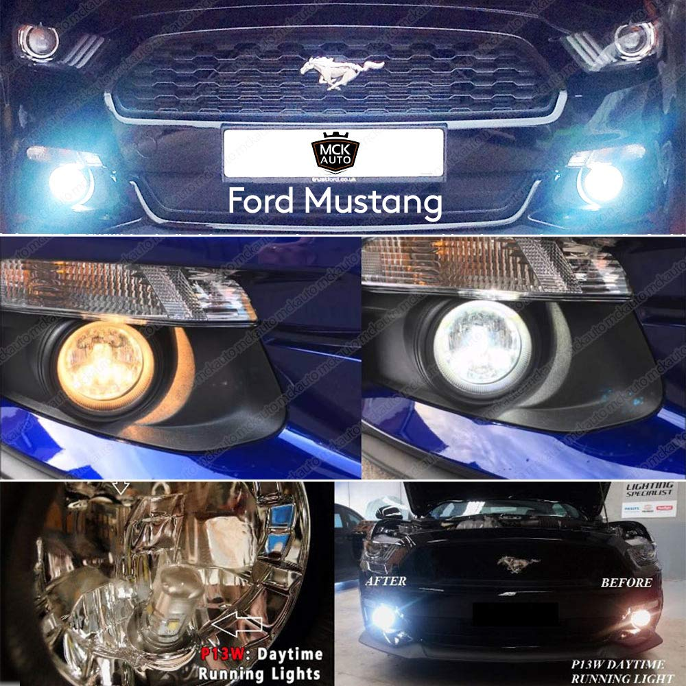 9SMD Daytime Running Lights LED Bulbs Canbus CREE DRL P13W WHITE EB3R1
