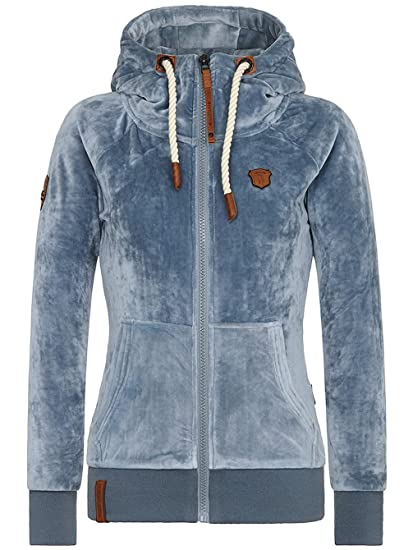 NAKETANO FRAUEN VELOUR Jacke Monsterbumserin Mack dark ash