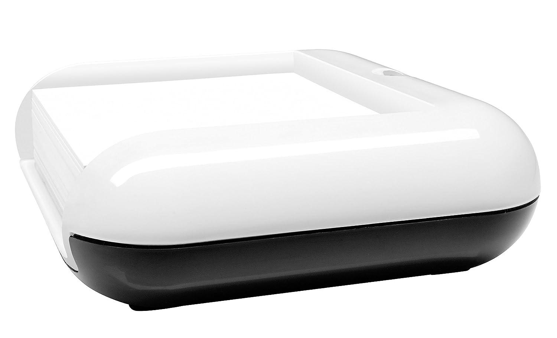 Sigel SA162 Box portafoglietti eyestyle, grigio scuro/nero, incl. bloco foglietti adesivi, 1 pz.