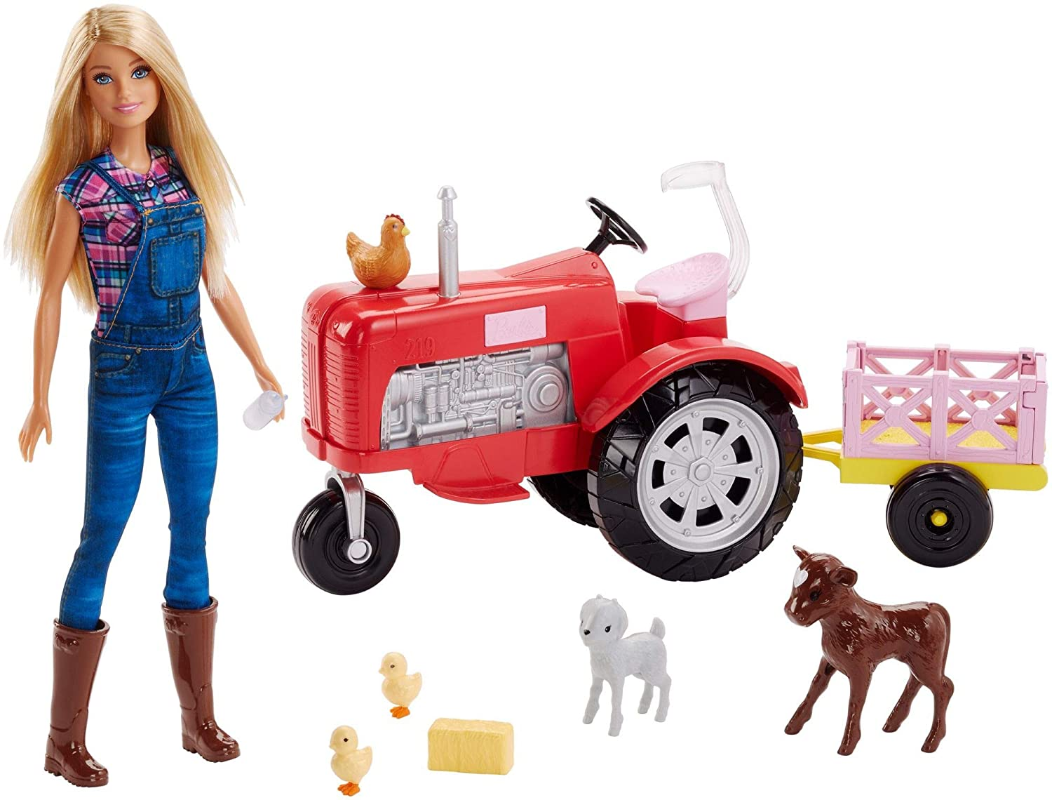 Barbie Doll and Tractor Set Mattel FRM18
