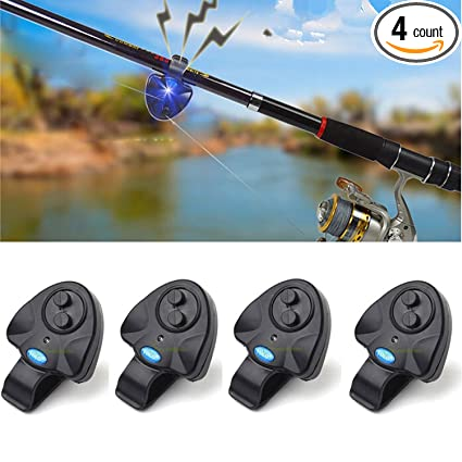 Amazon.com: 4pcs mejor seneitive Electronic Fish Bite Alarma ...