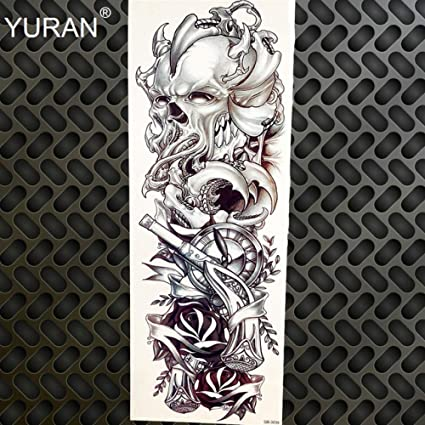 Totem Tattoo Tattoo Black Dragon Tatuaje de manga completa: Amazon ...