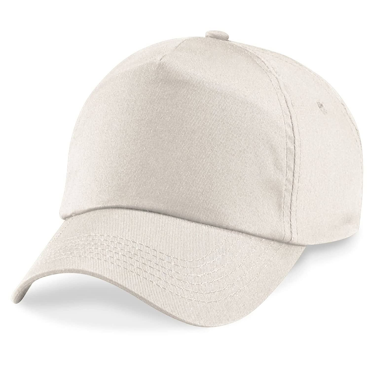 Beechfield 5 panel unlined cotton cap in Sand