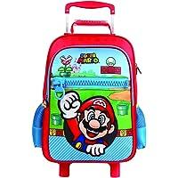 Mala Escolar G com Rodinhas Nintendo Super Mario, 11544, DMW Bags
