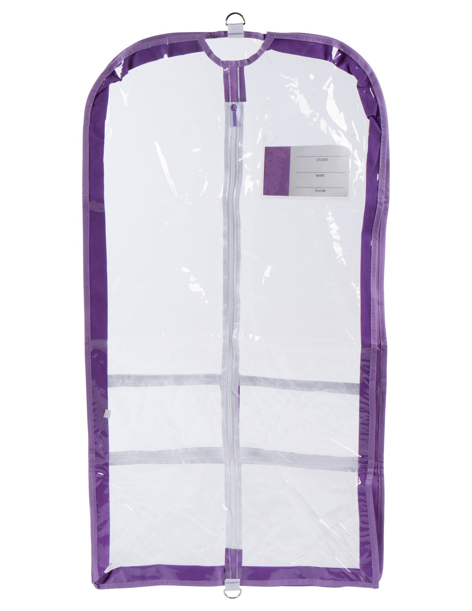 Clear Plastic Garment Bag with Pockets for Dance Competitions Danshuz - Lavender