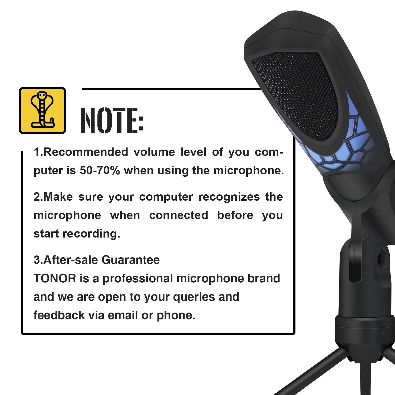 TONOR Gaming Microphone PC USB, Computer Mic Plug & Play for  Gaming/Chatting/Skype/YouTube/Recording/Podcasting for Mac OS X and Windows  PC Computers