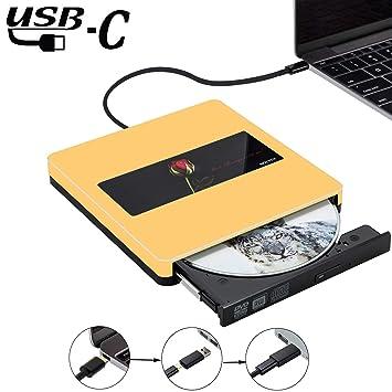NOLYTH® Unidad externa de CD DVD USB C Superdrive unidad óptica externa CD DVD grabador