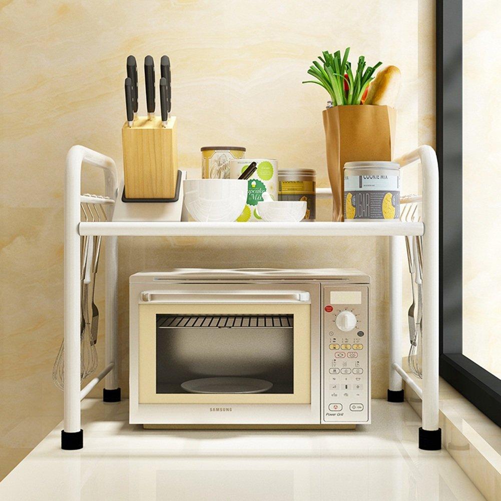WENZHE キッチン収納りキッチンラック収納棚キッチンラックワゴン電子レンジキャビネットストレージフロアタイプ多機能家庭用品、黒/白、2サイズ、2色展開 ( サイズ さいず : 60*35*50cm-white ) B07B8S14QG60*35*50cm-white