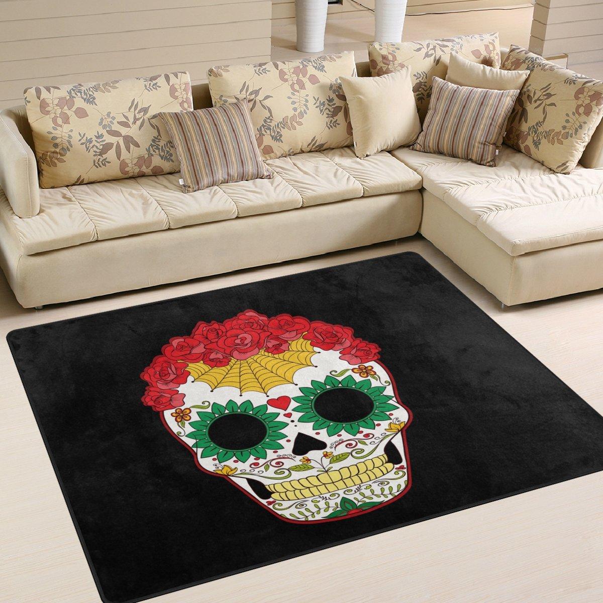 Sugar Skull Area Rug Rug Carpet For Living Room Bedroom My Sugar Skulls
