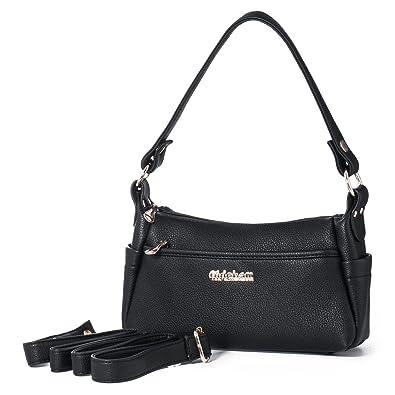 e2a7f1e1a2 Shoulder Bag Vegan Leather Crossbody Handbag for Women Top Handle Cellphone  Carring Satchel Purse Katloo (