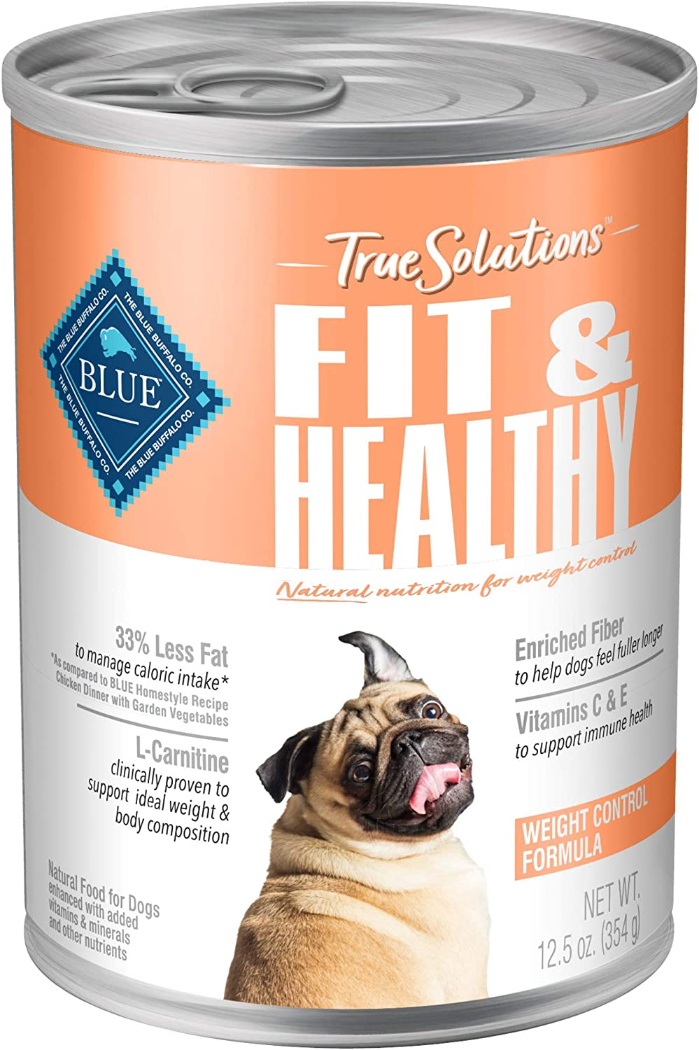 Blue Buffalo True Solutions Fit & Healthy Natural Weight Control Adult Dry Dog Food and Wet Dog Food, Chicken