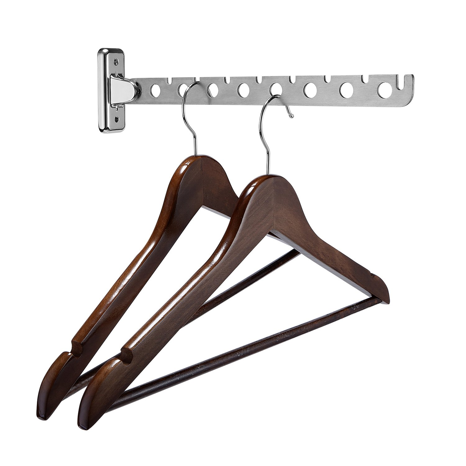Clothing Multiple Hook - Lifeasy Stainless Steel Wall-Mounted Folding Swing Arm Hook