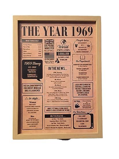 Póster de 1969 - Regalo para 50 cumpleaños o una pareja ...