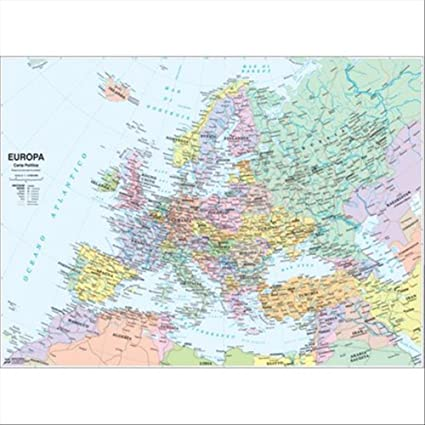 Cartina Dell Europa Geografica.Carta Geografica Europa Fisico Politica