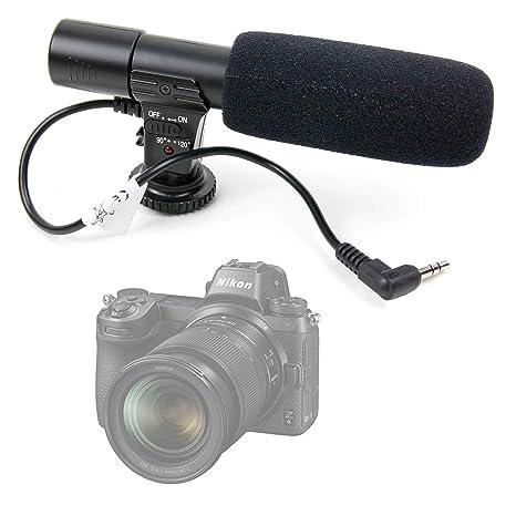 duragadget microfono  DURAGADGET Microfono Stereo per Fotocamere SLR Fotocamera Nikon Z6 ...