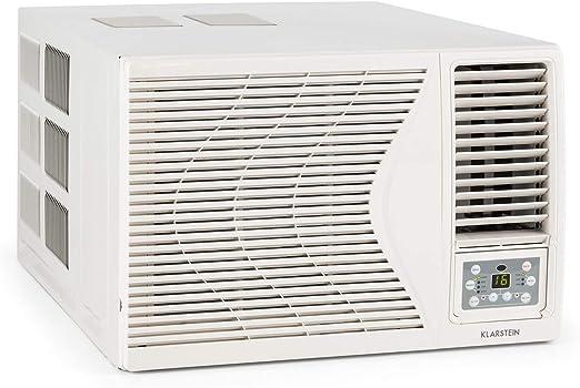KLARSTEIN Frostik - Aire Acondicionado de Ventana, EEC A, 4 potencias, 3 Modos, Enfriar, Deshumidificar, Ventilador, 16-30°C, Temporizador, Salas 26-44 m², Mando a ...