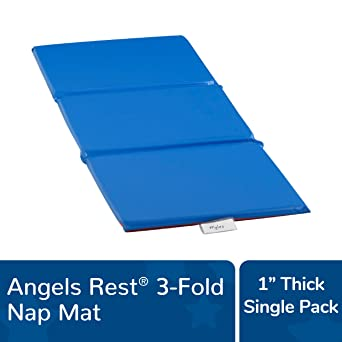 24 Length Single 3-Section Mat Angeles AEL7131A Germ-Free 2 Rest Mat 49 Height 2 Wide White