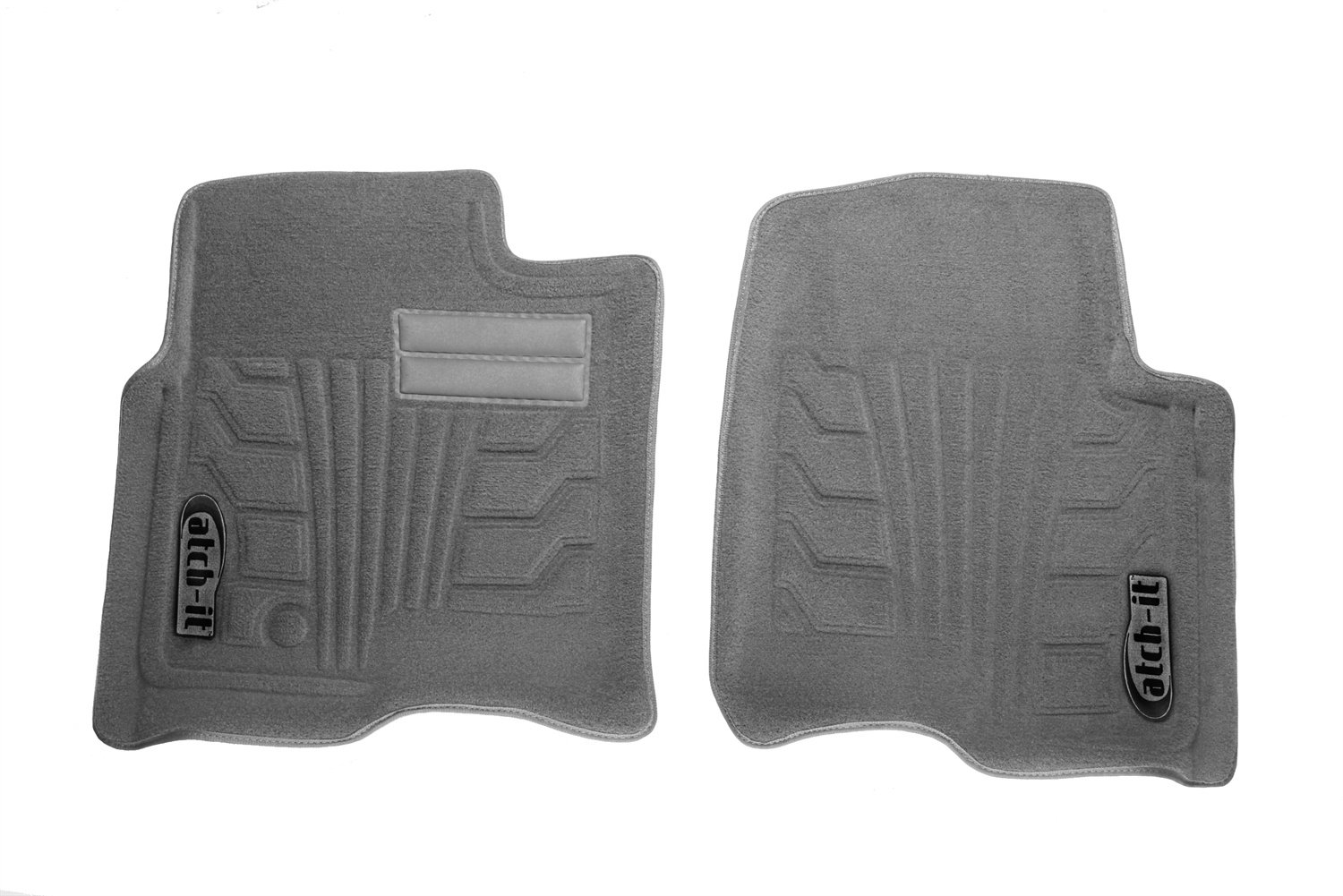 Set of 2 Lund 583106-G Catch-It Carpet Grey Front Seat Floor Mat