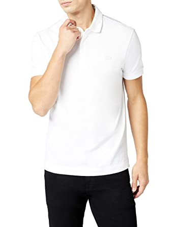 eb01c395b4 Lacoste Men's Regular Fit Paris Polo Shirt White: Amazon.com.au: Fashion