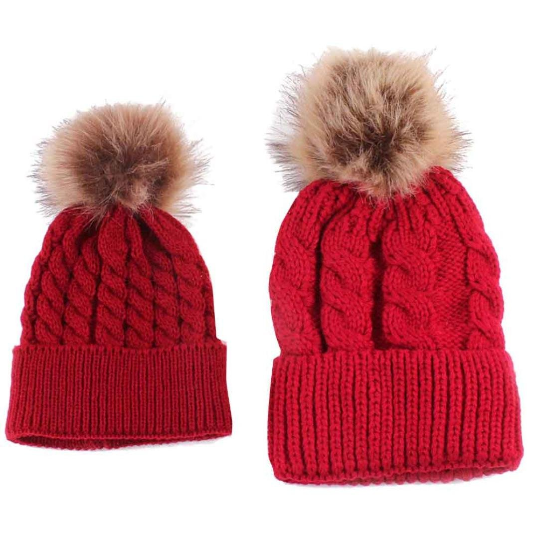 2363271f632 Children Winter Raccoon Fox Fur Hat Girls Boys 100% Real Fur pompoms Ball  Baby Beanies ...