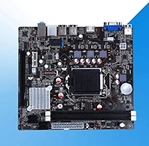 Difcuy 10USB 1155Pin Dual Channel DDR3 PCI-E 3.0 PS/2 SATA II Main Board Motherboard for i3 i5 Intel H61 Dual/Quad Core CPU Replacment Control Board
