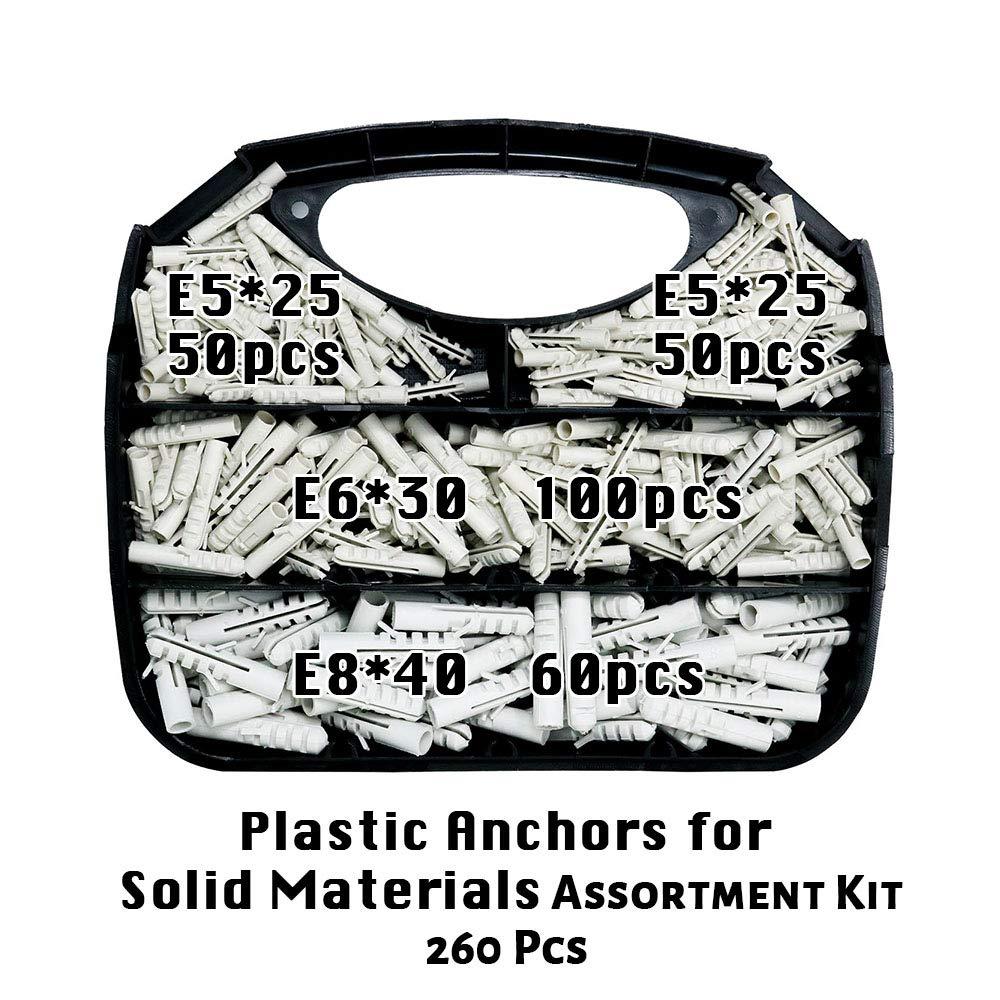 Short Twist Anchors #6-#8 Zinc Drywall Anchors 500
