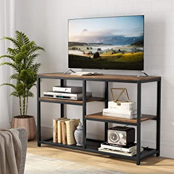 Amazon Com Tribesigns Tv Stand Vintage Industrial Media Stand