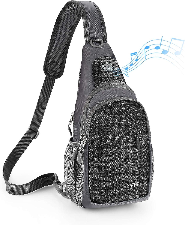 Elfhao Sling Bag Outdoor Waterproof Shoulder Backpack Chest Crossbody Bag Bike Women Men Girls Boys Travel Daypack