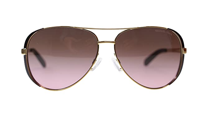 4fb082e9fa6 Image Unavailable. Image not available for. Color  Michael Kors Chealsea Womens  Sunglasses M5004 101414 Gold Brown Aviator 59mm