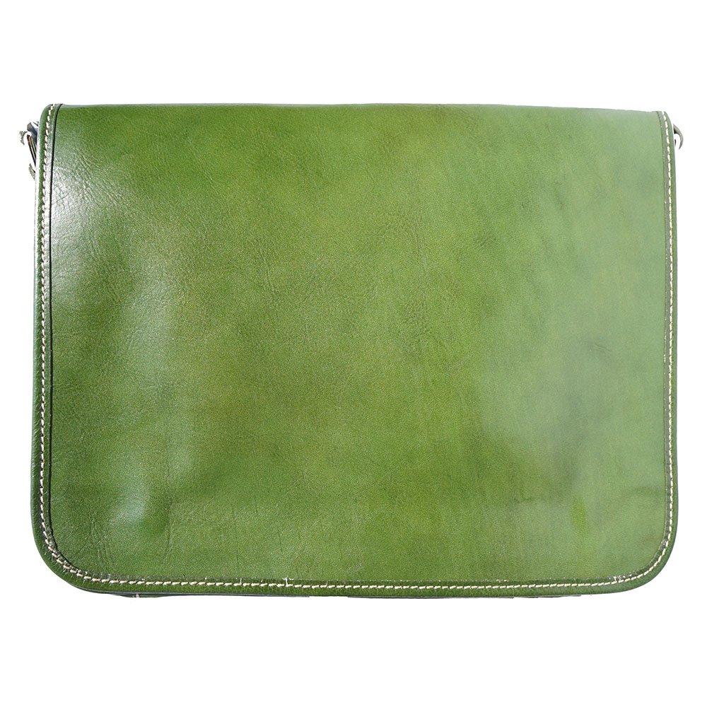 Florence Leather Market メンズ Men's genuine leather shoulder bag  グリーン B00OMY17T8