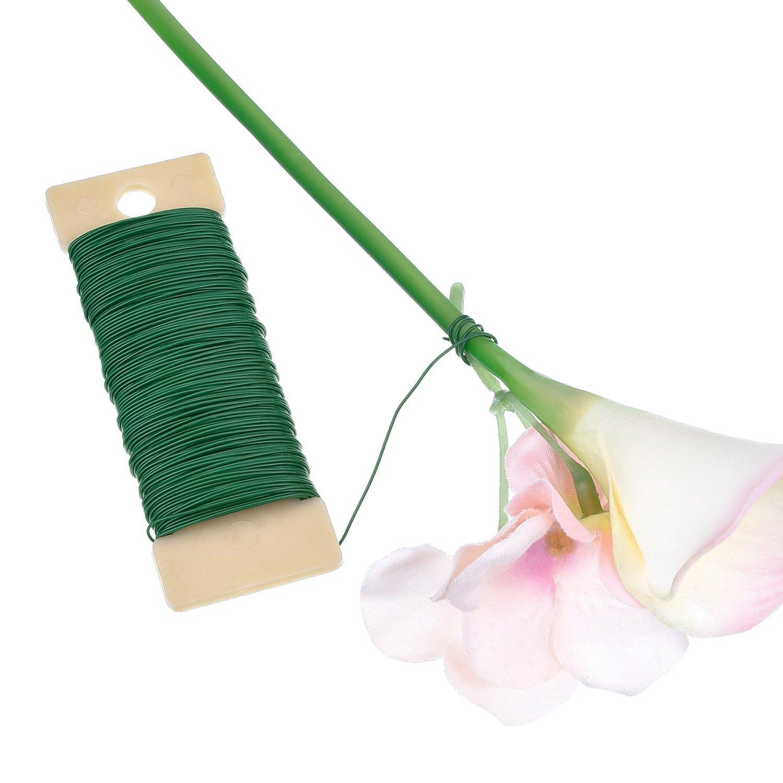 22 Calibre Alambre Verde y 4 1// 2 Pulgadas Cortador de Alambre Kit de Herramienta de Arreglos Florales Cinta Floral Envoltura de Tallo 1// 2 Pulgada por 30 Yardas