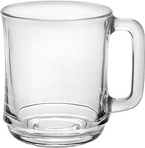 Duralex 4018AR06/6 Empilable Mug, 10.875 oz, Clear Glass