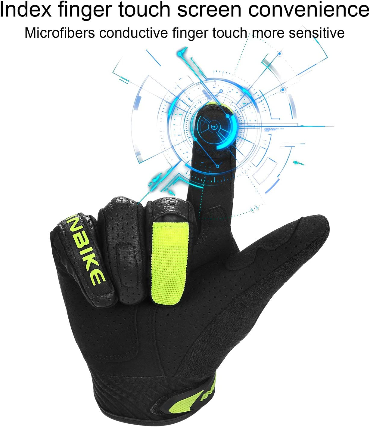 INBIKE Gants Moto Homme /Ét/é Gant Tactile pour Automoto Scooter V/élo /Électrique Coqu/és Protection R/ésistants /à lusure IM801
