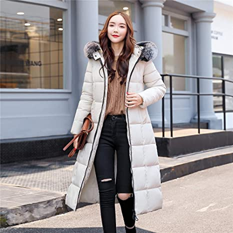 Amazon.com: DICPOLIA Women Winter Long Outerwear Jackets Pocket Fur Thicken Hooded Long Coats Clothes: Clothing