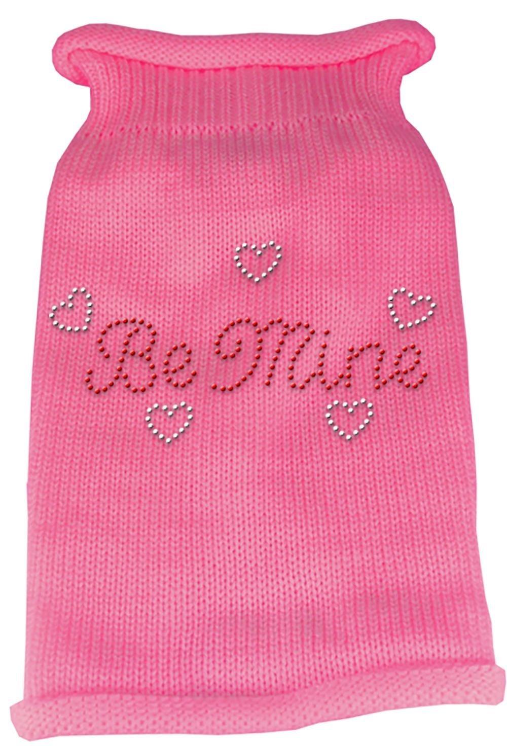 Mirage Pet Products Be Mine Rhinestone Knit Pet Sweater, X-Large, Pink